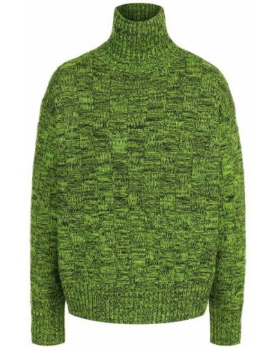 Зеленый свитер с воротником-стойкой Victoria, Victoria Beckham