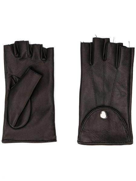 Skórzany rękawiczki czarny Manokhi