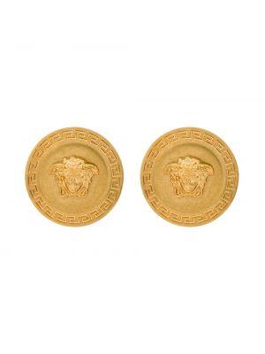 Серьги-гвоздики - желтые Versace