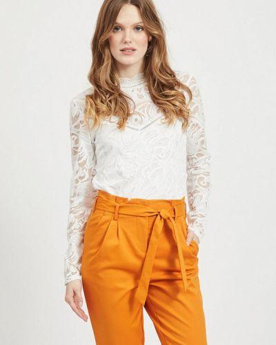 Кружевная белая блузка Vila