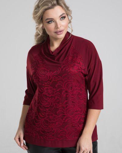 Гипюровая нарядная с рукавами блузка марита