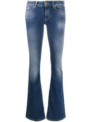 Классические хлопковые синие джинсы на молнии Dondup