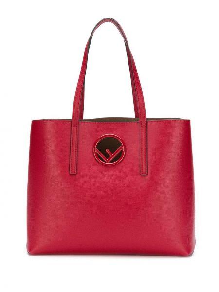 Кожаная сумка шоппер маленькая Fendi