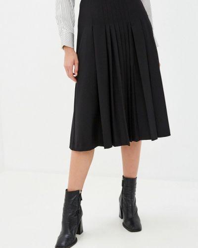 Плиссированная черная юбка Savage