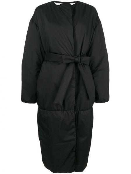 Черный пуховик с поясом свободного кроя Givenchy