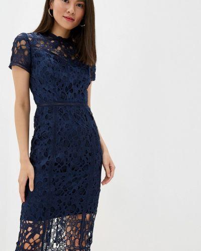 Вечернее платье осеннее синее Chi Chi London