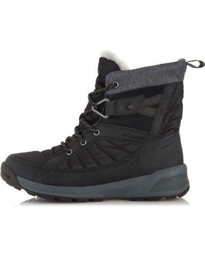 Кожаные сапоги на шнуровке теплые Columbia