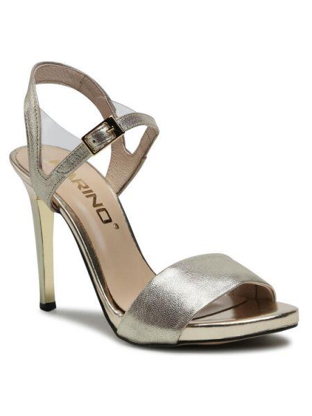 Złote sandały Karino
