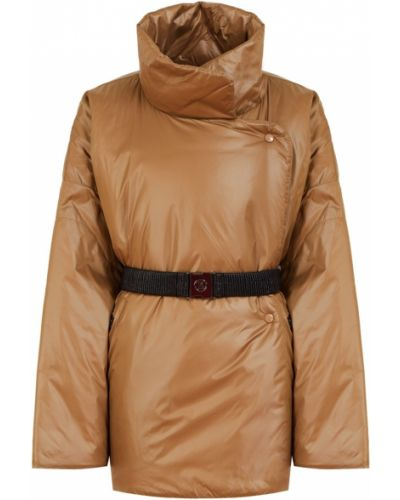 Коричневая куртка оверсайз с подкладкой Bogner