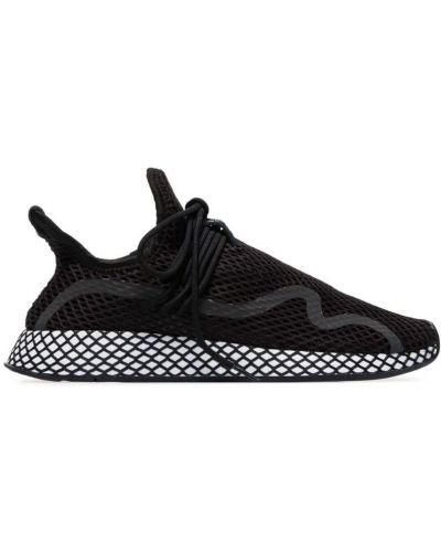 Кроссовки черные сетчатые Adidas