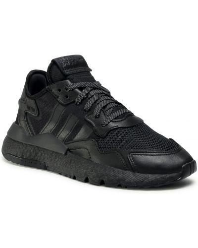 Czarne spodnie skorzane Adidas