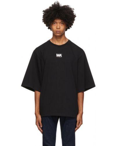 Czarny t-shirt bawełniany Martin Asbjorn