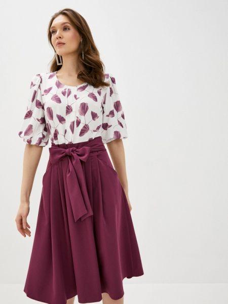Платье бордовый прямое Sezoni