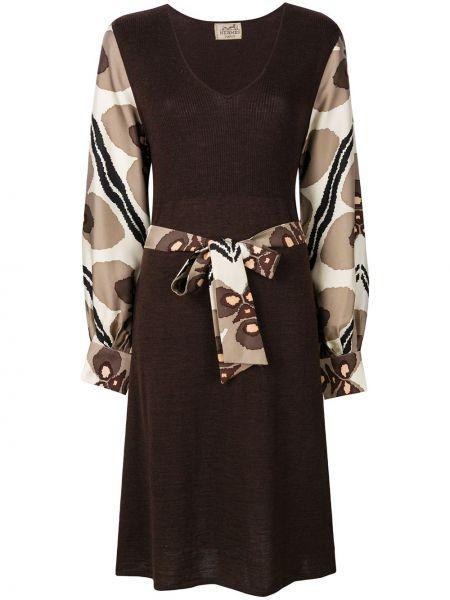 Платье с поясом винтажная на пуговицах Hermès