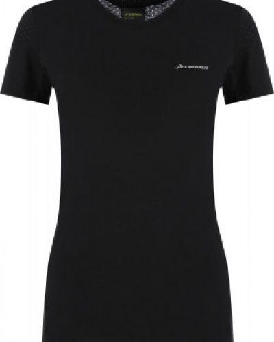 Хлопковая черная спортивная футболка для бега Demix