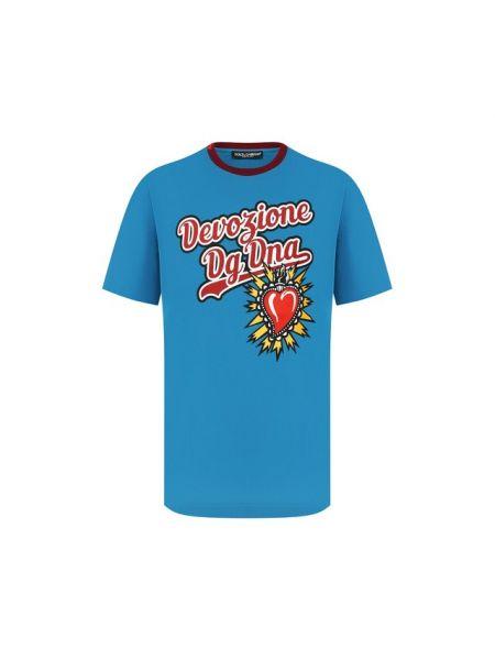 Футболка с надписью бордовый с принтом Dolce & Gabbana