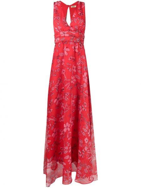 Sukienka długa rozkloszowana w kwiaty bez rękawów Liu Jo