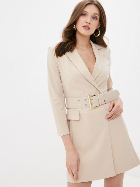 Платье платье-пиджак бежевое Imperial