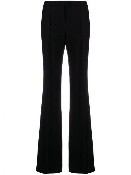 Черные расклешенные брюки с высокой посадкой Theory