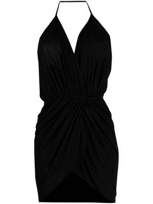 Черная блузка из вискозы с вырезом Rick Owens Lilies