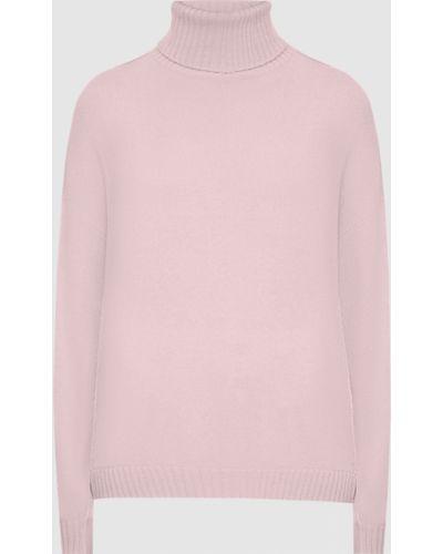 Кашемировый розовый свитер Allude