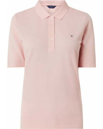 T-shirt bawełniana - różowa Gant