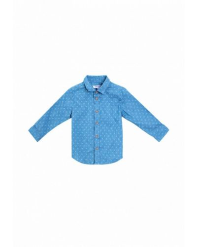 Синяя джинсовая рубашка Playtoday