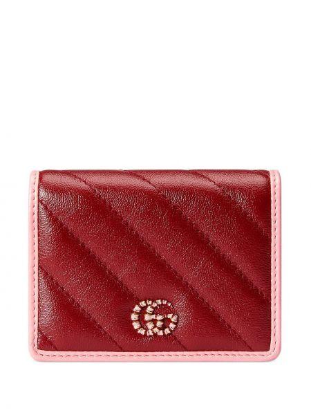Portfel skórzany - różowy Gucci