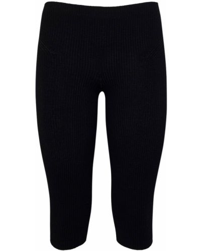 Czarne legginsy z wiskozy Jacquemus