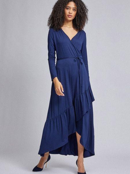 Платье с запахом синее Dorothy Perkins