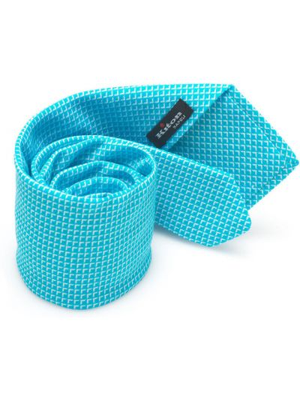 Krawat z jedwabiu turkusowy Kiton
