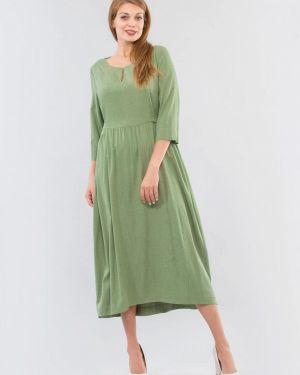 Зеленое повседневное платье Maxa