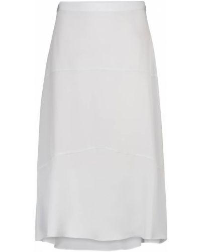 Шелковая синяя юбка миди Dorothee Schumacher