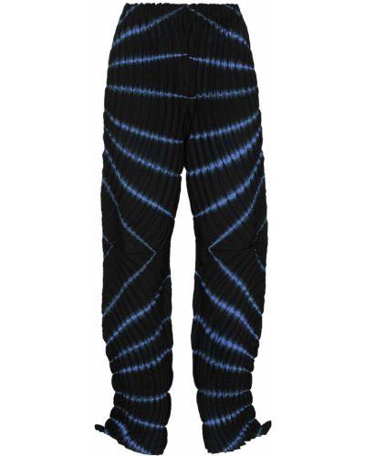 Черные зауженные брюки с принтом Issey Miyake