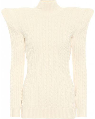 Dom biały sweter z wiskozy Balenciaga