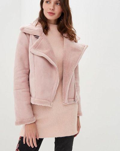 Розовая дубленка Befree