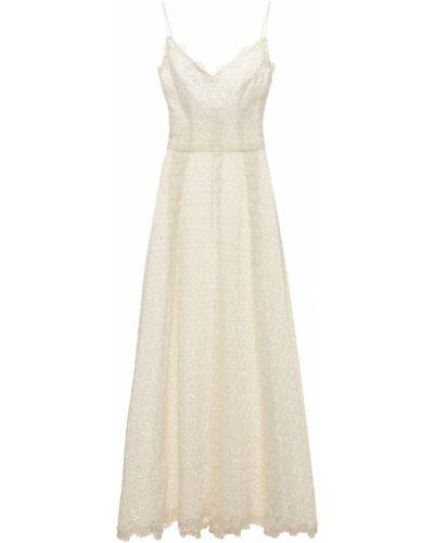 Приталенное шелковое кружевное платье Luisa Beccaria