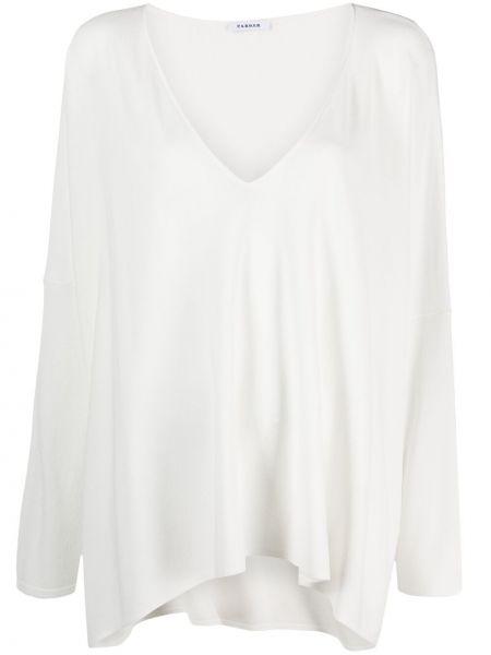 Белая блузка с длинными рукавами с V-образным вырезом P.a.r.o.s.h.