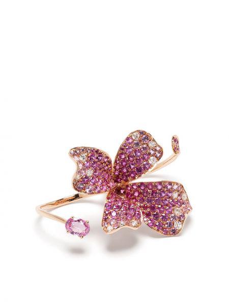 Różowy złoty pierścionek szafir Stefere
