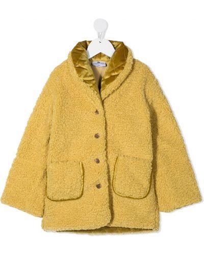 Желтое стеганое длинное пальто на пуговицах Raspberry Plum