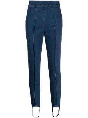 Mom jeans bawełniane - niebieskie Isabel Marant