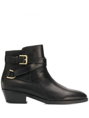 Ботинки на каблуке черные на низком каблуке Lauren Ralph Lauren