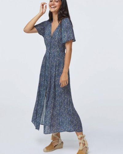 Платье - синее Oysho