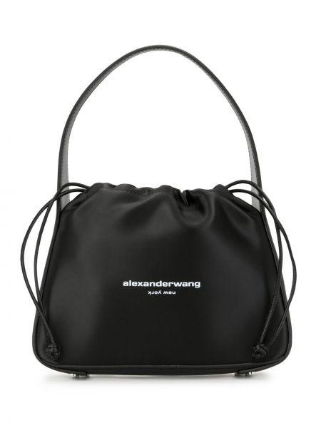 Черная сумка на плечо с карманами на шнурках Alexander Wang