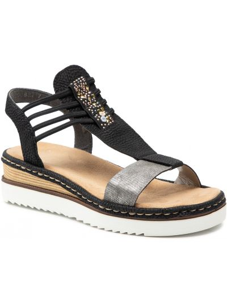 Sandały - czarne Rieker