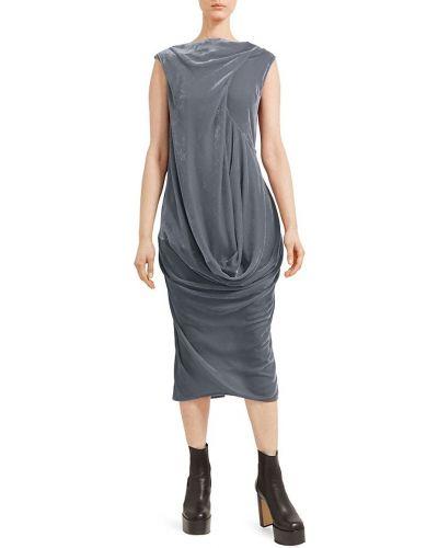 Sukienka midi z wiskozy - niebieska Rick Owens