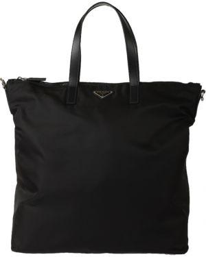 Текстильная сумка - черная Prada