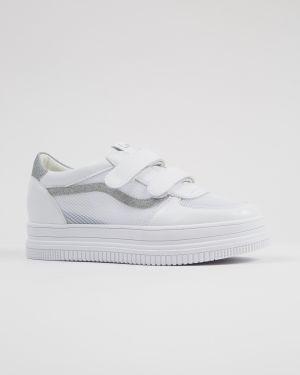 Туфли с сеткой белый Prima D'arte