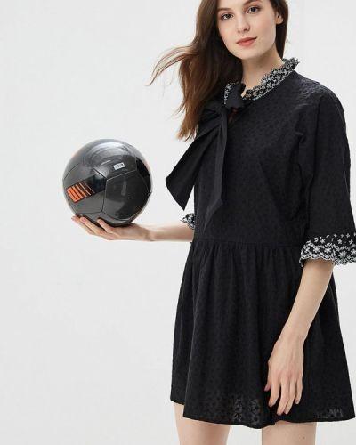 Черное платье с длинными рукавами Sister Jane