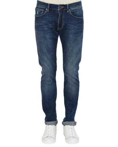 Хлопковые джинсы - синие Marlboro Classics